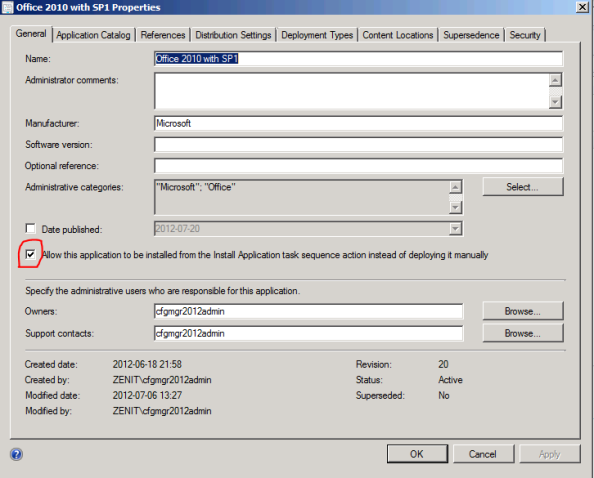 Application is allowed to be installed via a TS